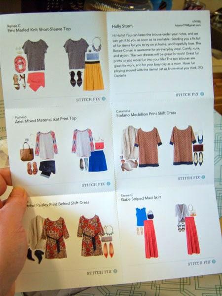 My Stitch Fix Box #4 style sheet