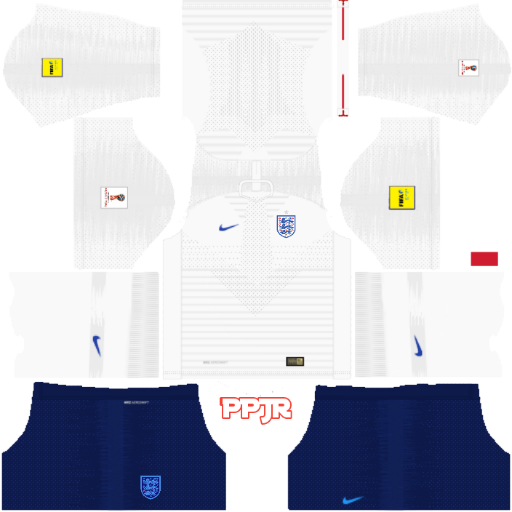 England World Cup 2018 Kits (DLS 18 & FTS 15) by Phanith Phan