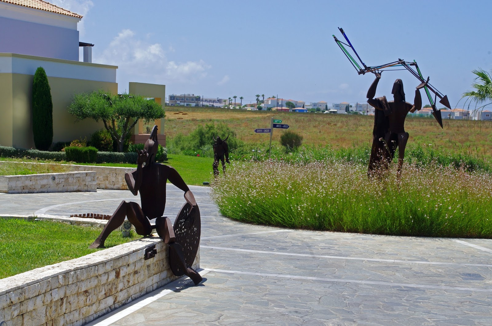 Sculptures Neptune Hotel Kos
