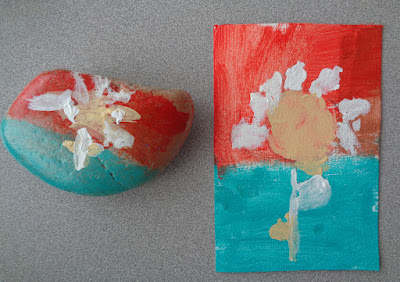 Legacy Project at the primary school.  Painted rocks & canvas pieces