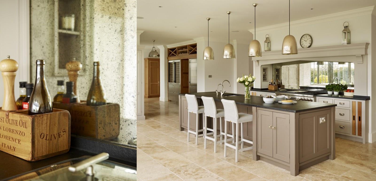 Uno specchio in cucina shabby chic interiors for Arredamento inglese
