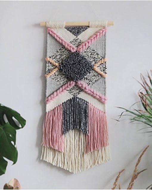 woven wall hanging tapiz