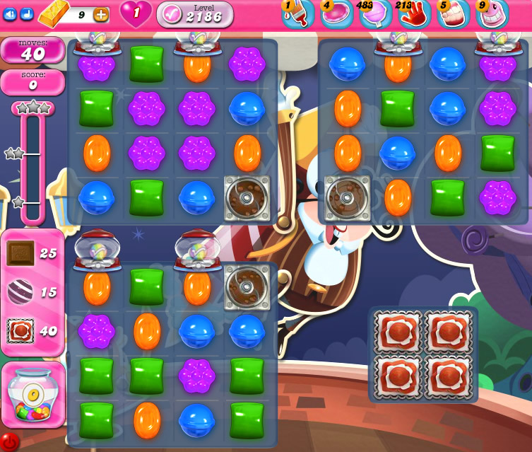 Candy Crush Saga level 2186