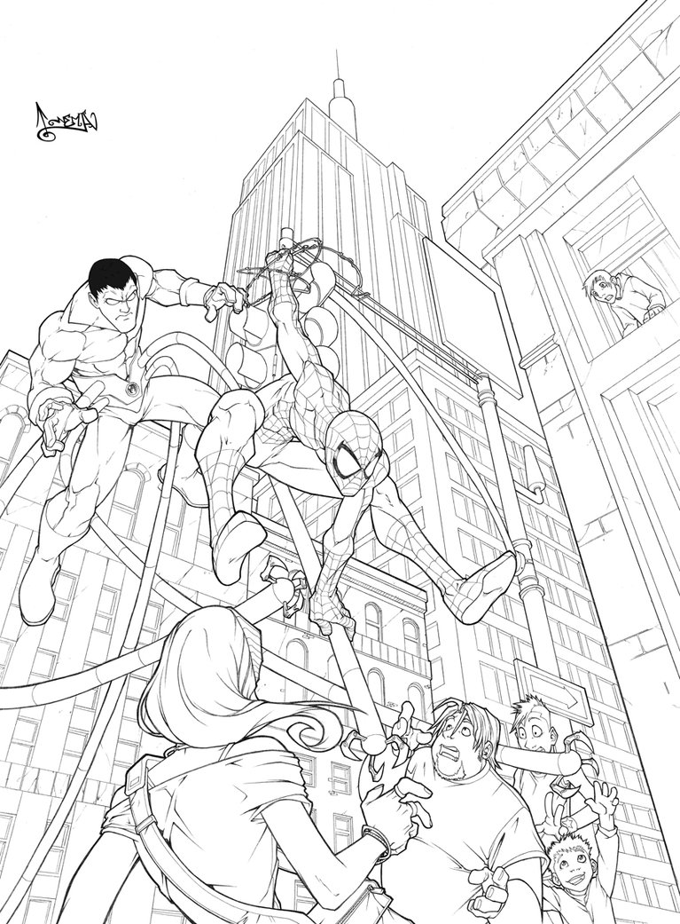 spiderman coloring page Minister