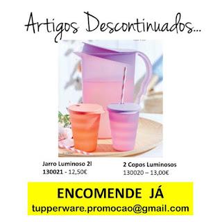 130020 - 2 Copos Luminosos 130021 - Jarro Luminoso 2l Tupperware