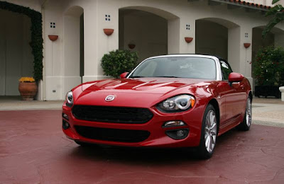 FIAT 124 Spider Red convertible car