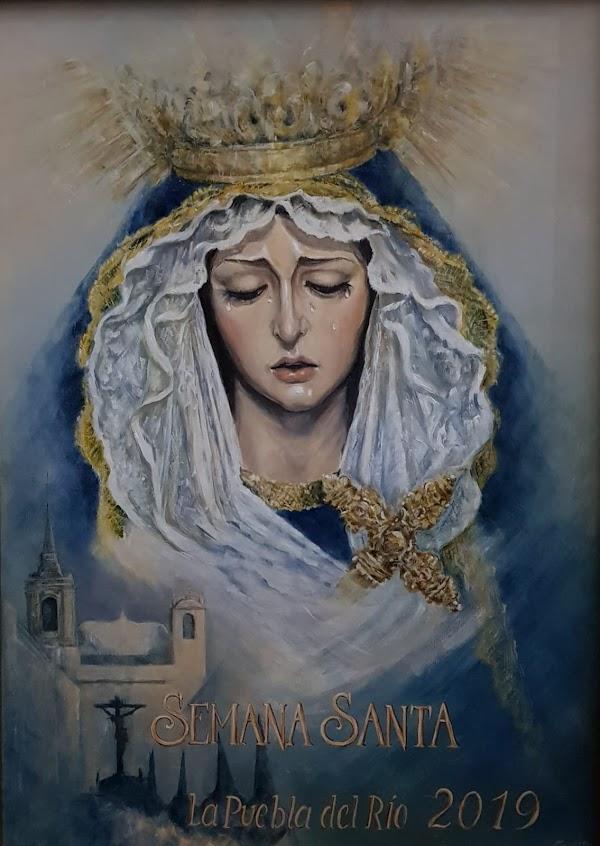 La Virgen de los Dolores protagoniza el cartel de la Semana Santa de la Puebla del Río