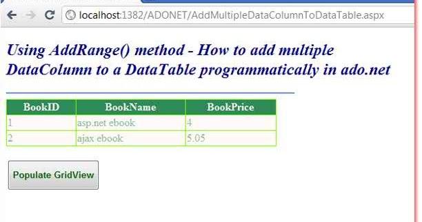 Ado Net Ebook