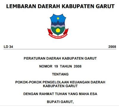 Pengelolaan Keuangan darah Kabupaten Garut Perda Nomor 19 Tahun 2008., http://www.librarypendidikan.com/