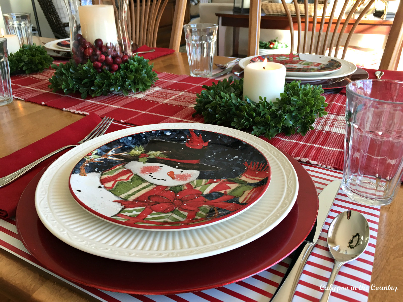 Using Wrapping Paper for a Place Setting