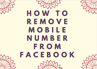 How to remove mobile number from Facebook