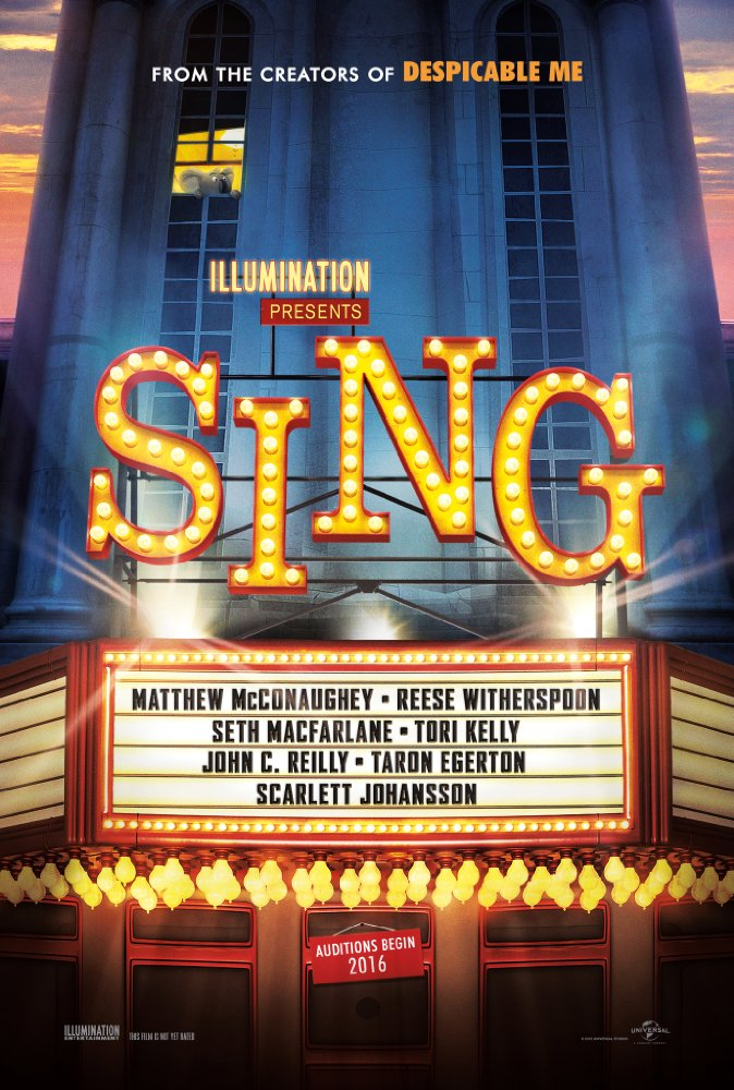 Sing (2016) PG | 1h 48min | Animation, Comedy, Family