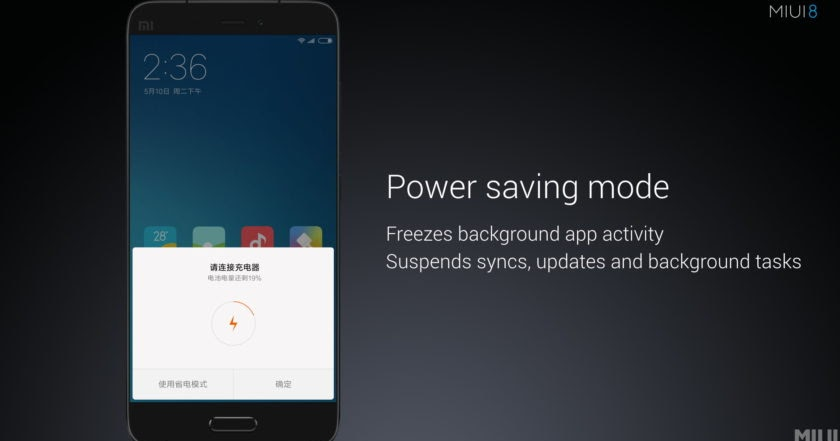 MIUI 8 Battery Saver + Background Apps