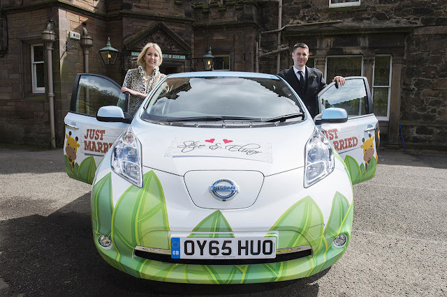 Nissan LEAF Goes Wild for Wedding