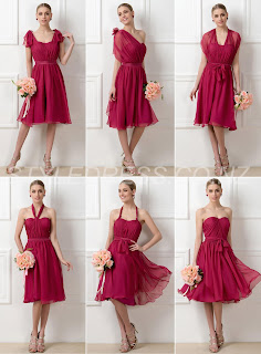 Charming A-Line Sweetheart Knee-Length Convertible Zipper-Up Bridesmaid Dress (11341143)