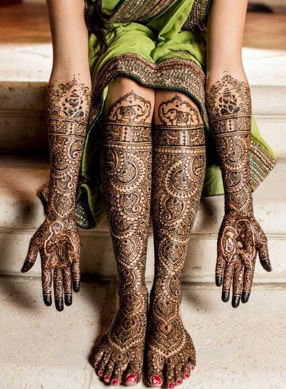 24 Stunning Feet Mehndi Designs for the Bride