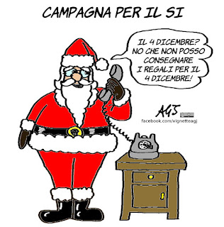 referendum costituzionale, 4 dicembre, basta un si, vignetta, satira
