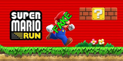 Apps falsas de Super Mario Run para Android