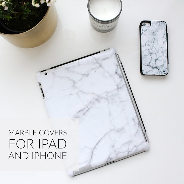 marble covers for ipad and iphone