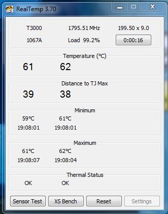 درجة حرارة البروسيسور