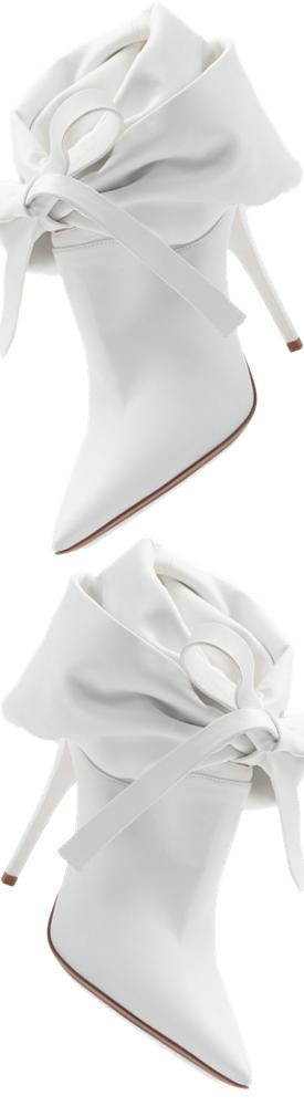 Miu Miu Fold-Down Leather Bootie