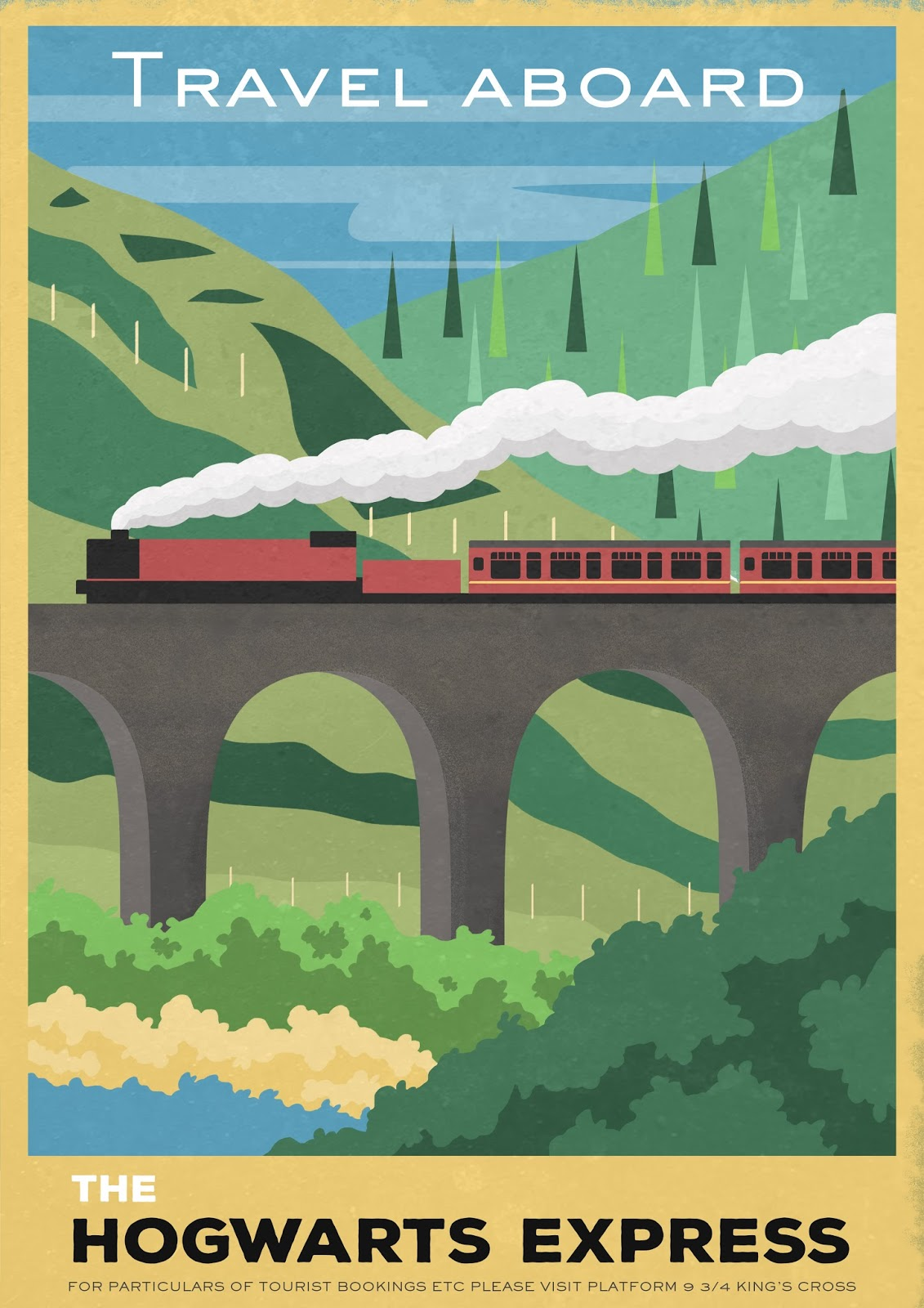 Poster Xpress Carly Watts Art And Illustration The Hogwarts Express