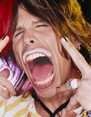 Foto de Steven Tyler gritando