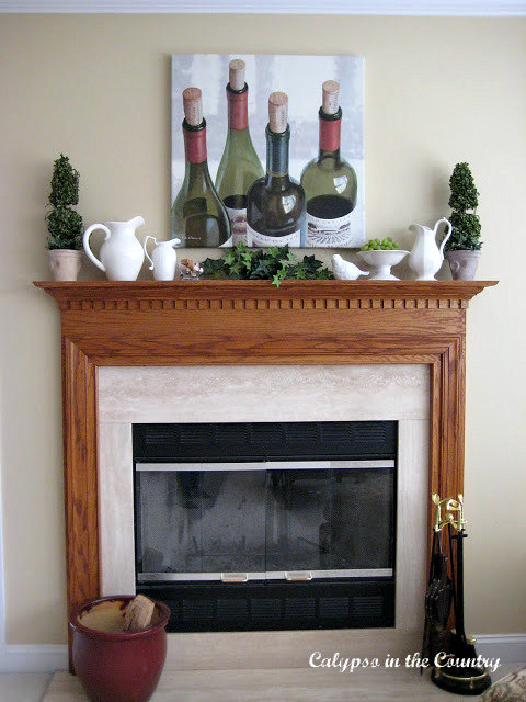 Fireplace After - with Wine Country Theme
