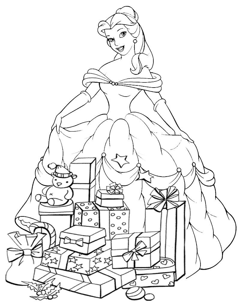 disney princess christmas coloring pages printable princesas disney dibujos para colorear princesas disney