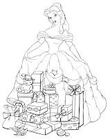 Dibujos Para Colorear Princesas Disney Navidad Dibujos Disney