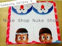 Stiker, skotlet atau garskin skin  hp samsung galaxy V nobita dan doraemon