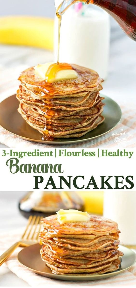 3-Ingredient Healthy Banana Pancakes
