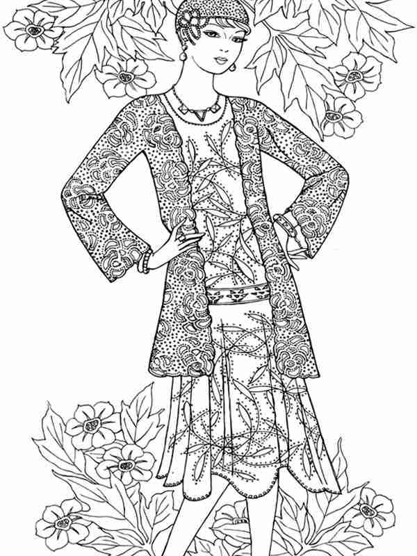 9 Flower Fashion For Valentines Coloring Pages Realistic