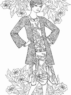 sweet flower fashion for valentine printable adult coloring pages