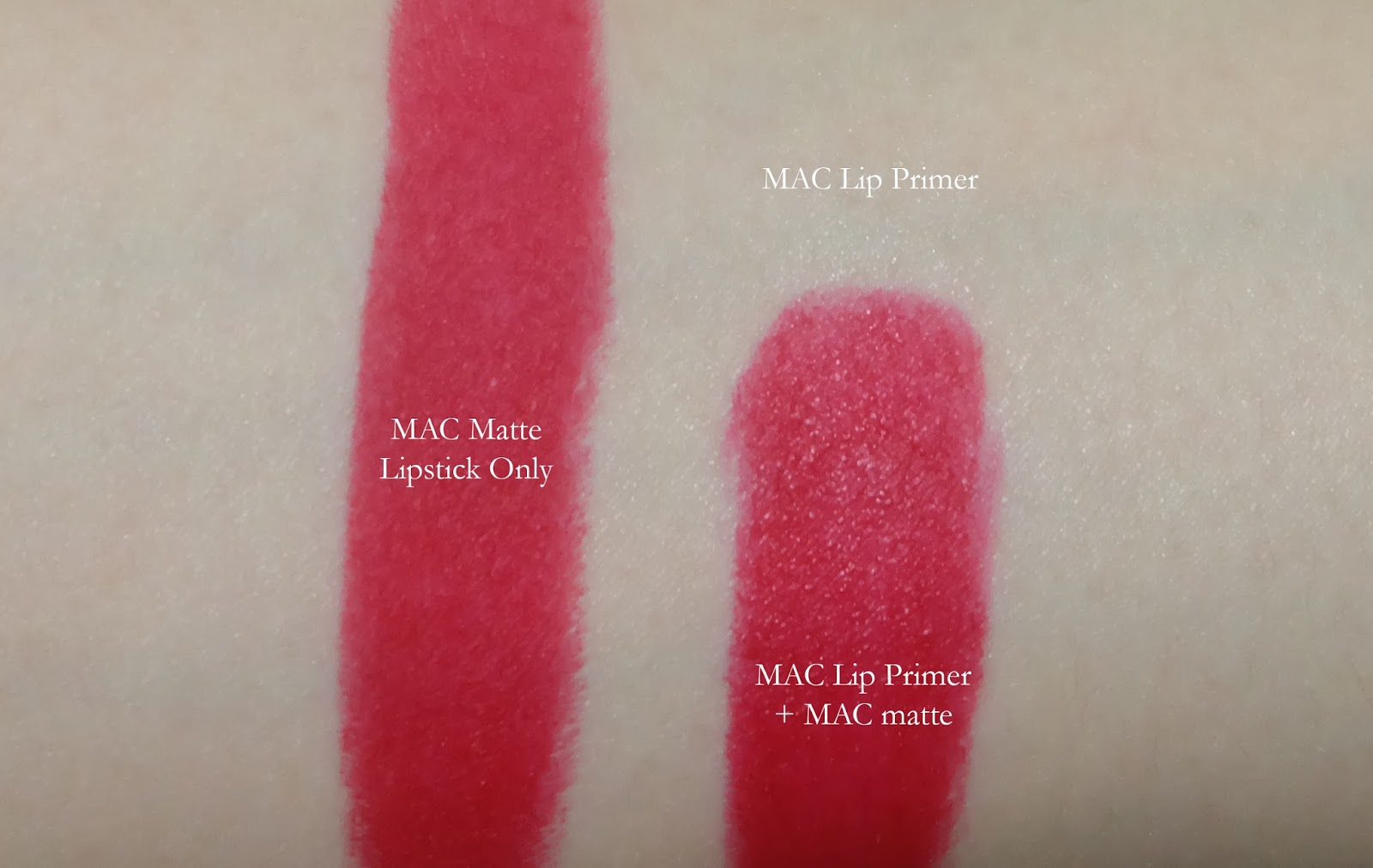 swatch product review best lip primer MAC prep & prime