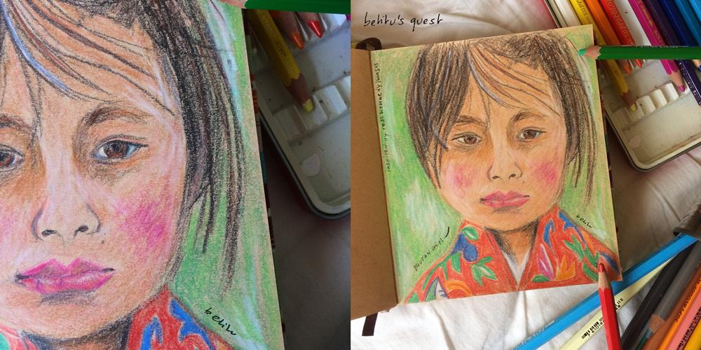 Bhutan girl by betitu - betitusquest sketchbook