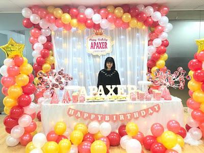 trang trí sinh nhật bằng bóng bay nghệ thuật