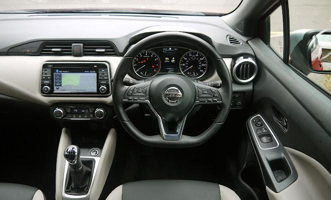 Nissan Micra cockpit