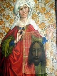 """Sweat Cloth"" painted by the Master of Flemalle (Veil of Veronica - presumably Byssus)"