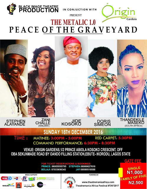 STAGE PLAY OF THE YEAR: PEACE OF THE GRAVE YARD...