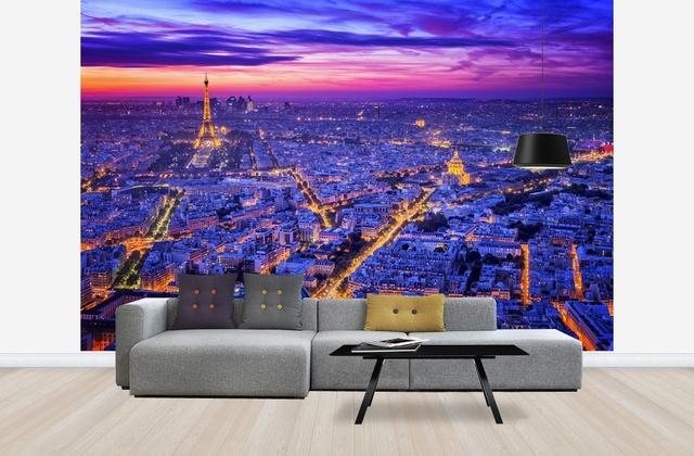 Pariisi Tapetti Yö Romanttinen Paris