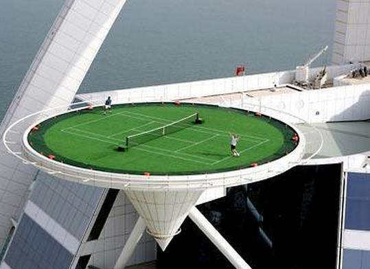 Burj Al Arab Hotel: world's highest tennis court