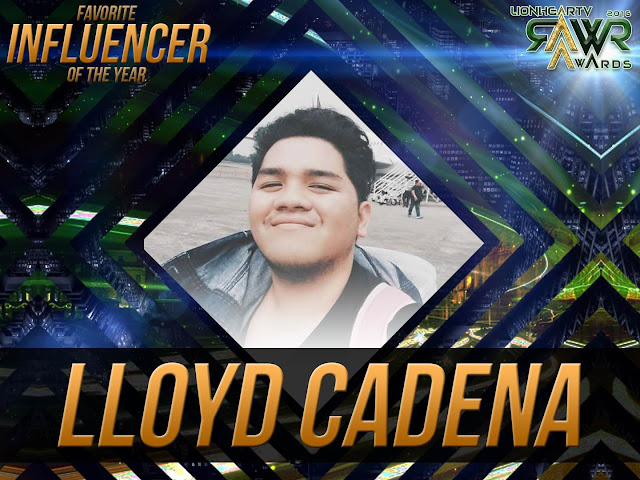 CUB: Lloyd Cadena wins Favorite Influencer of the Year #RAWRAwards2016