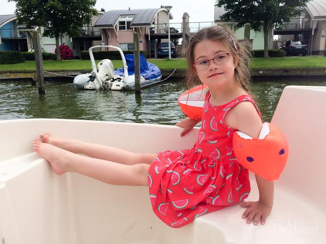 Jolina im Boot