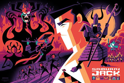 San Diego Comic-Con 2017 Exclusive Samurai Jack Variant Screen Print by Tom Whalen x Mondo