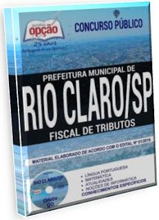 Apostila Fiscal de Tributos Prefeitura de Rio Claro 2018
