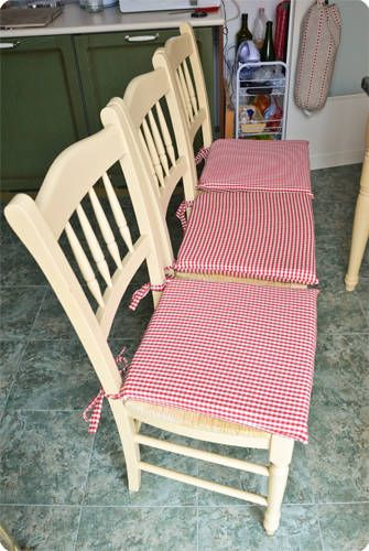cuscini per sedie con tutorial e portasacchetti | Piccoli pasticci