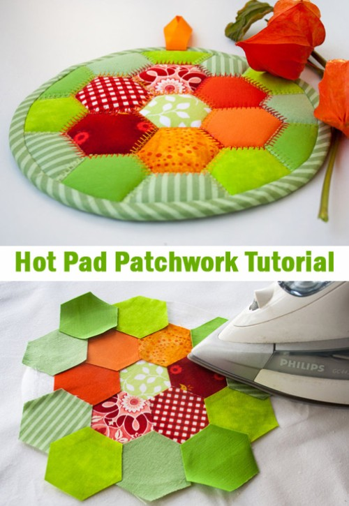 Hot Pad Patchwork - Tutorial