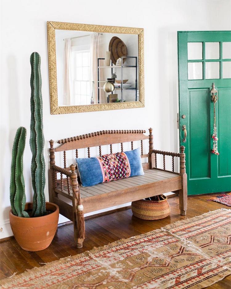 cactus, boho chic interior, oriental rug, house,