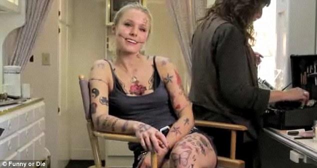 I Have 214 Tattoos Kristen Bell Gets A Bad Girl Make